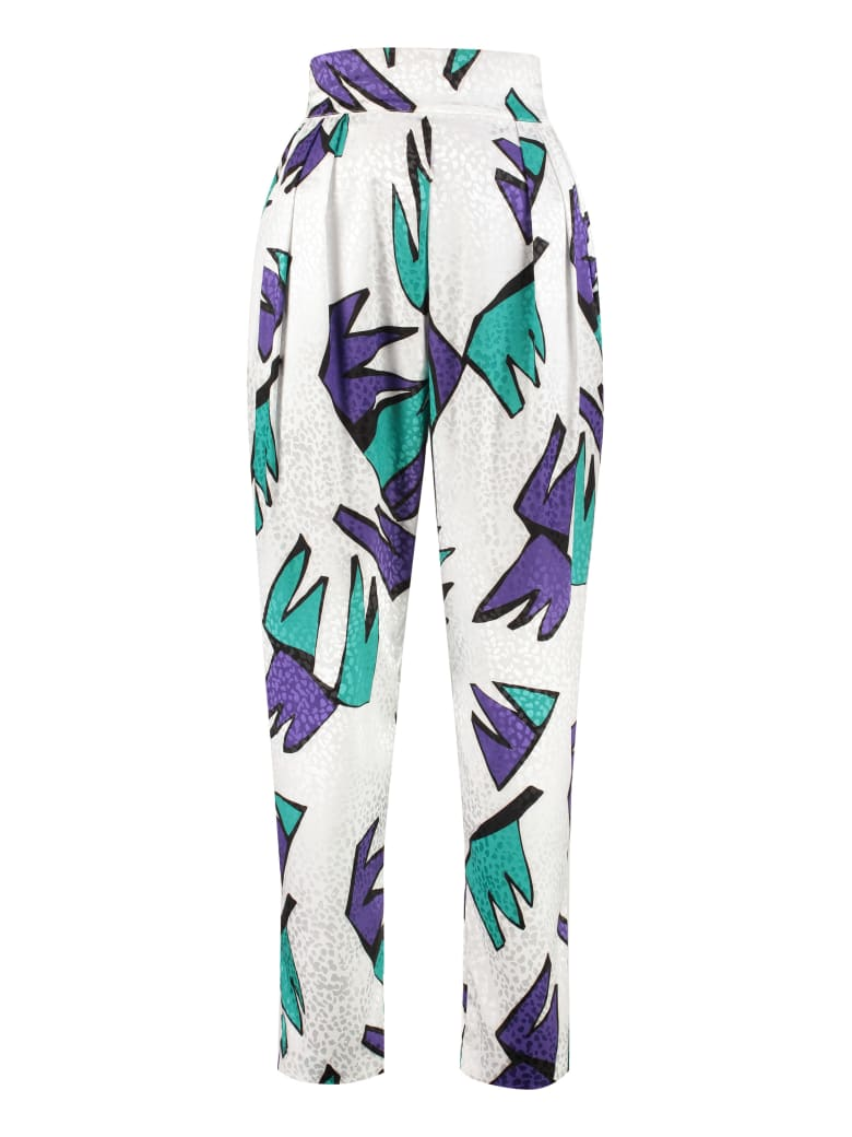 The Attico Printed High-rise Trousers - White