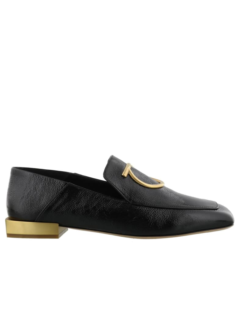 Salvatore Ferragamo Gancini Loafers - Black