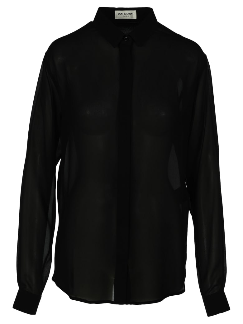 Saint Laurent Silk Shirt - BLACK