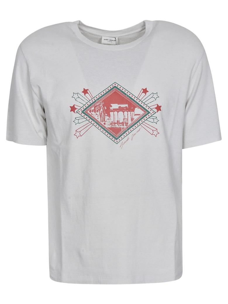 Saint Laurent Multi-Print T-Shirt - Grey