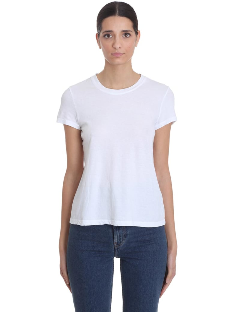 James Perse T-shirt In White Cotton - white