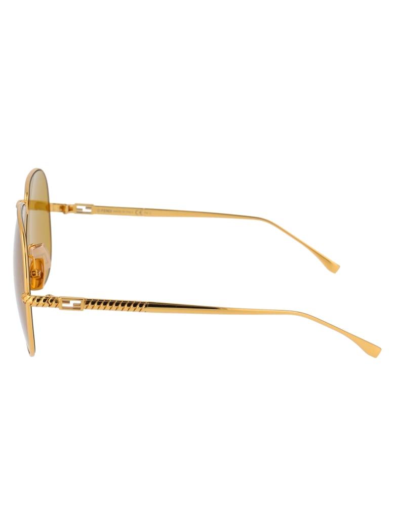 Fendi Ff 0437/s Sunglasses - 00170 YELLOW GOLD