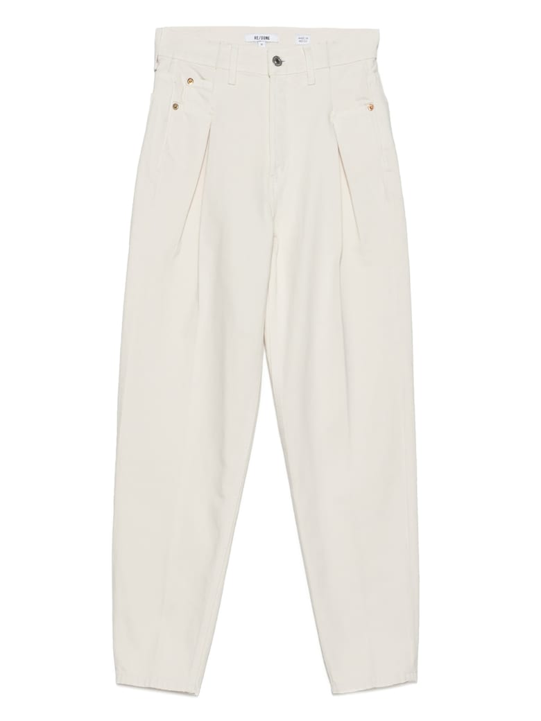 RE/DONE '40s Zoot' Jeans - White