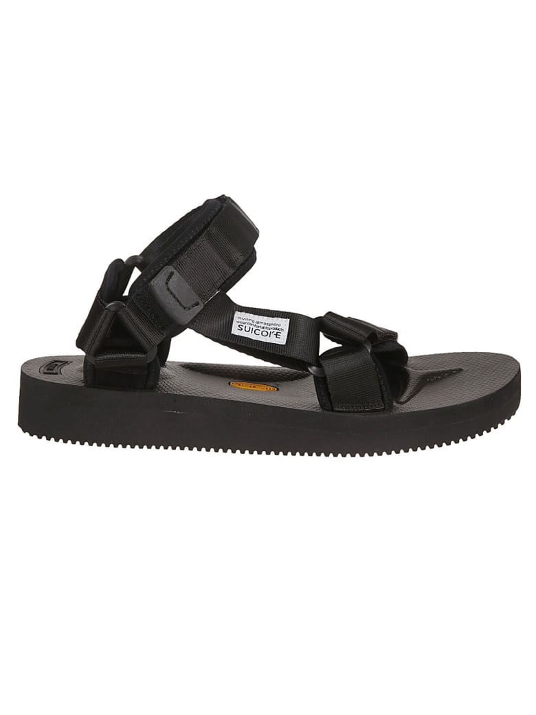 SUICOKE Touch Strap Sandals - Black