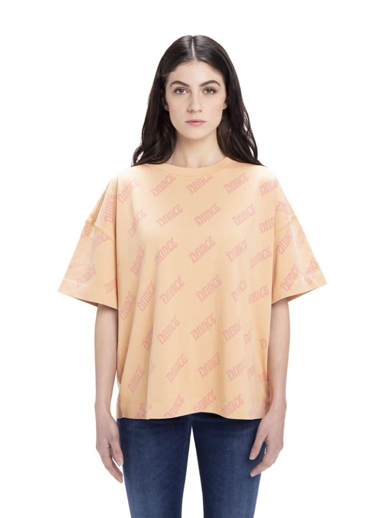 Acne Studios Stellie Dance Print T-shirt - Peach/Pink