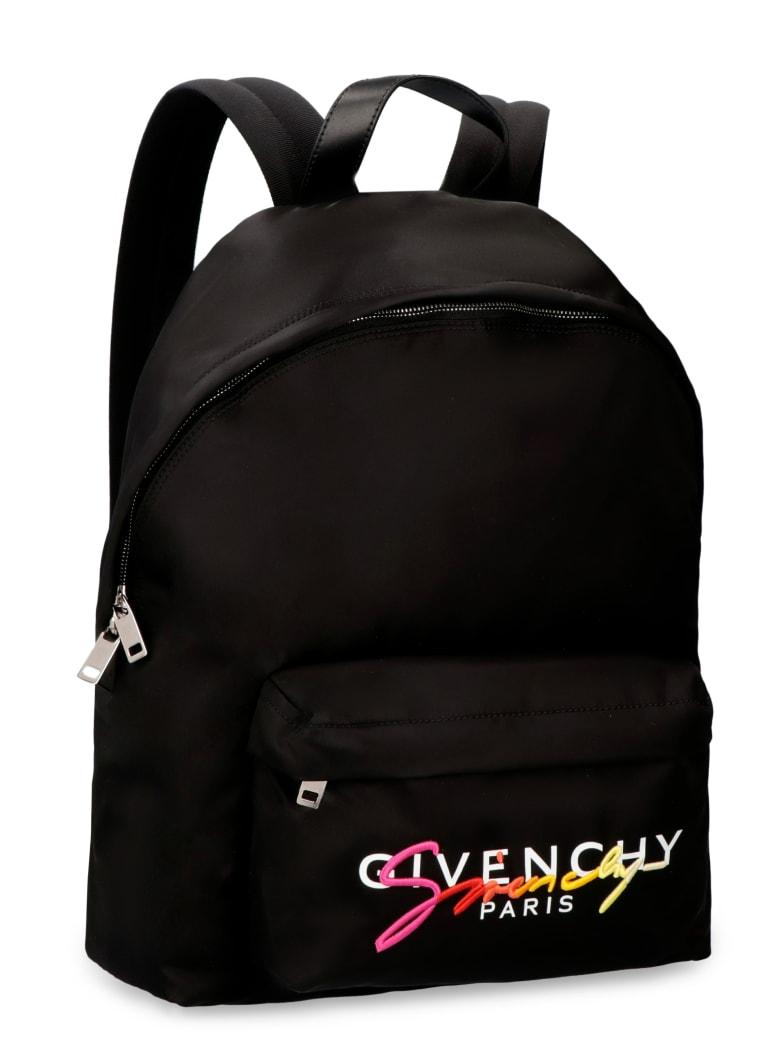 Givenchy Logo Print Nylon Backpack - black