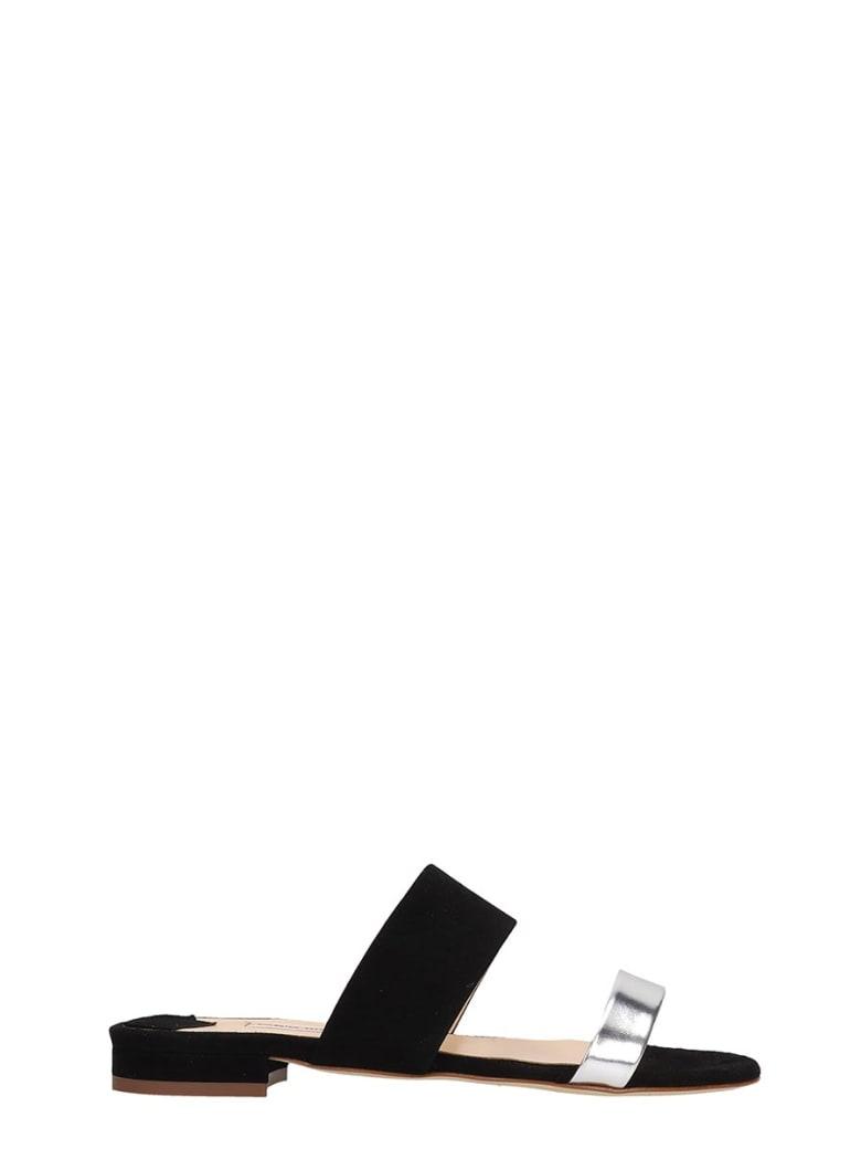 Fabio Rusconi Flats In Black Suede - black