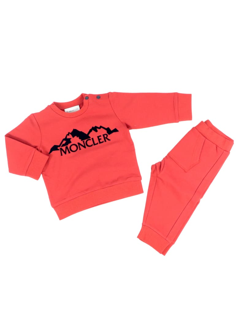 Moncler Cotton Stretch Tracksuit - RED