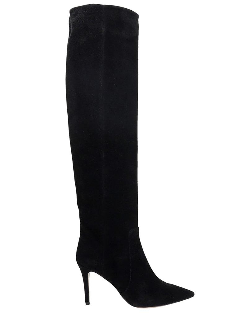 Fabio Rusconi High Heels Boots In Black Suede - black