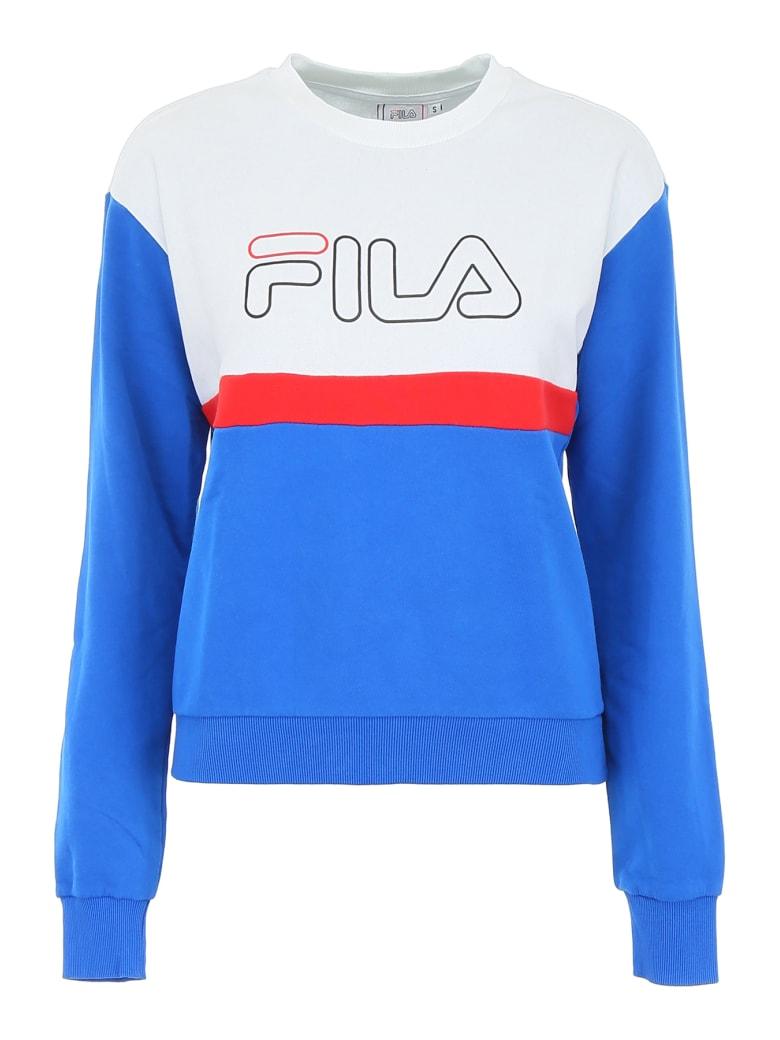 Fila Elisabeth Sweatshirt - BRIGHT WHITE LAPIS BLUE TRUE RED (Blue)