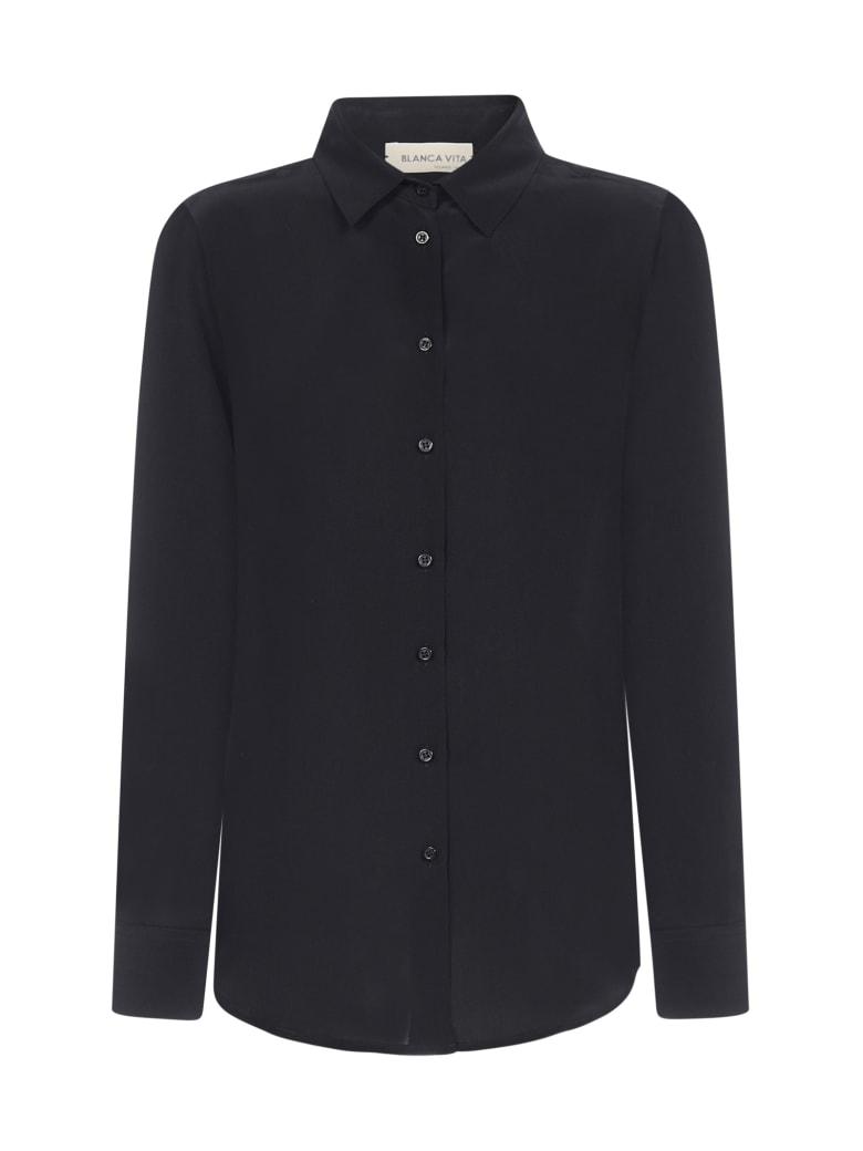 Blanca Vita Cassiopea Silk Shirt - Onice