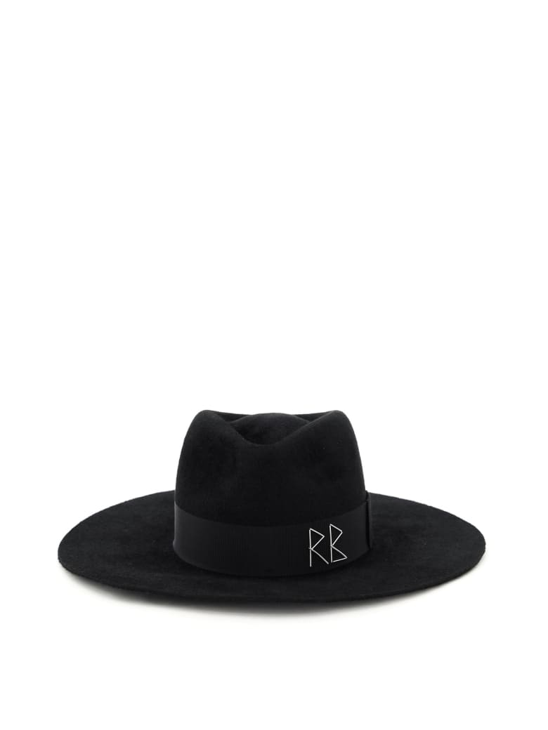Ruslan Baginskiy Fedora Hat Crystals And Pearls - BLACK (Black)
