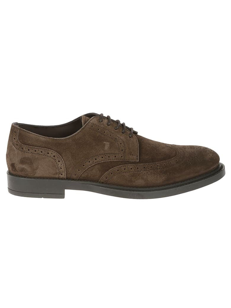 Tod's Bucature Perforated Derby Shoes - Marrone
