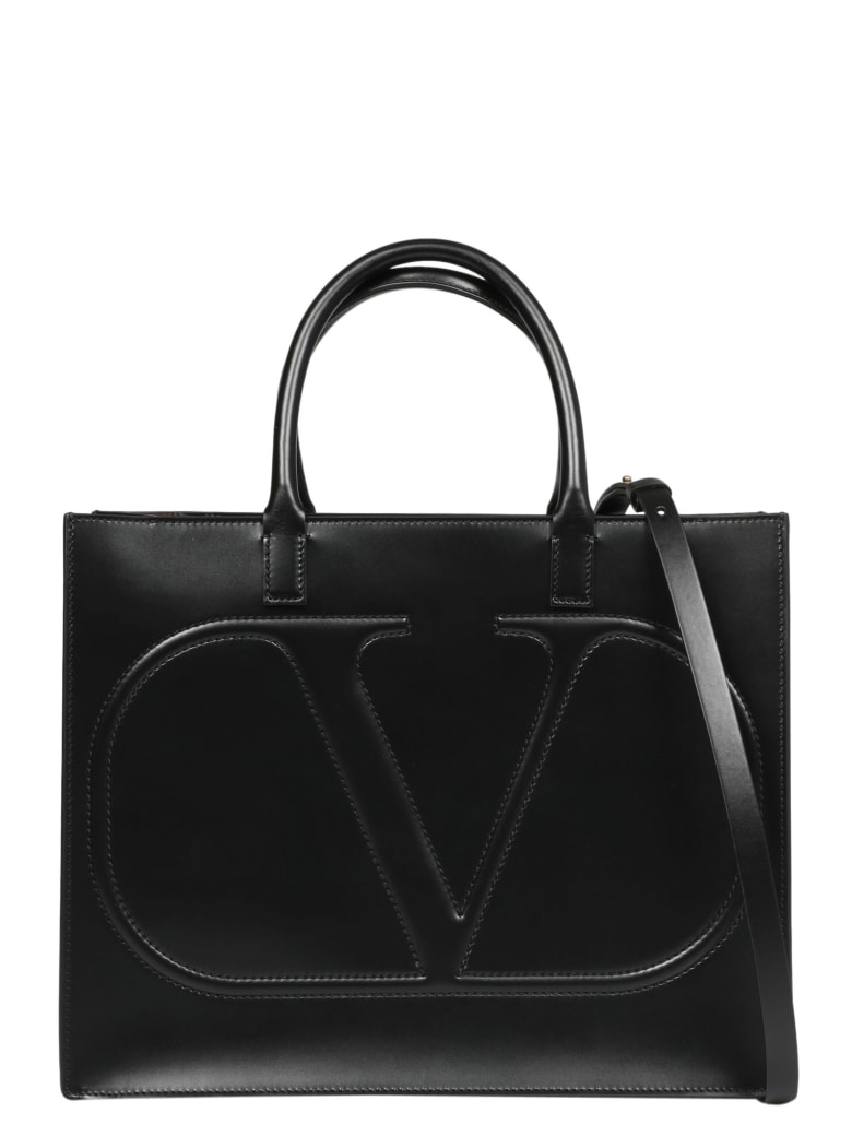 Valentino Garavani Vlogo Walk Shopping Bag - Black