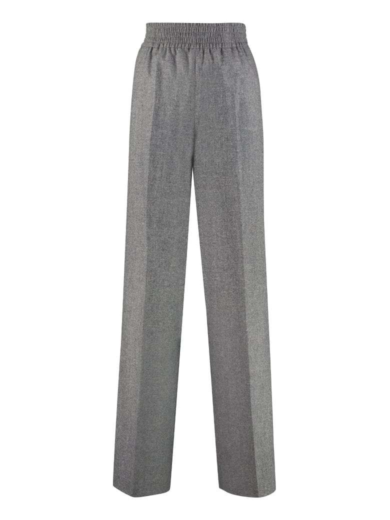 Agnona Wide-leg Trousers - grey