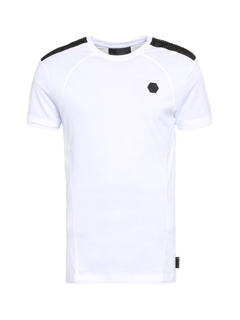 Philipp Plein Logo Cotton T-shirt - White