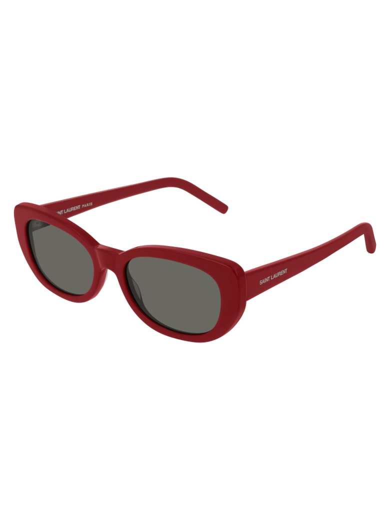 Saint Laurent SL 316 BETTY Sunglasses - Red Red Grey