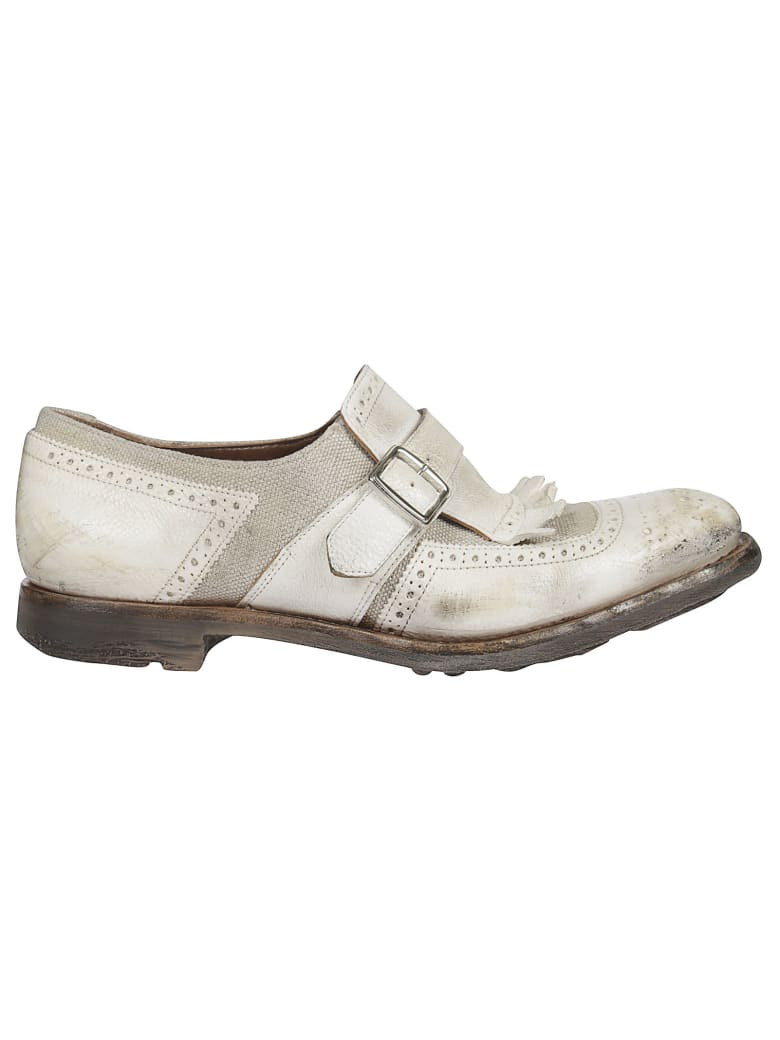 Church's Buckle Detail Loafers - White