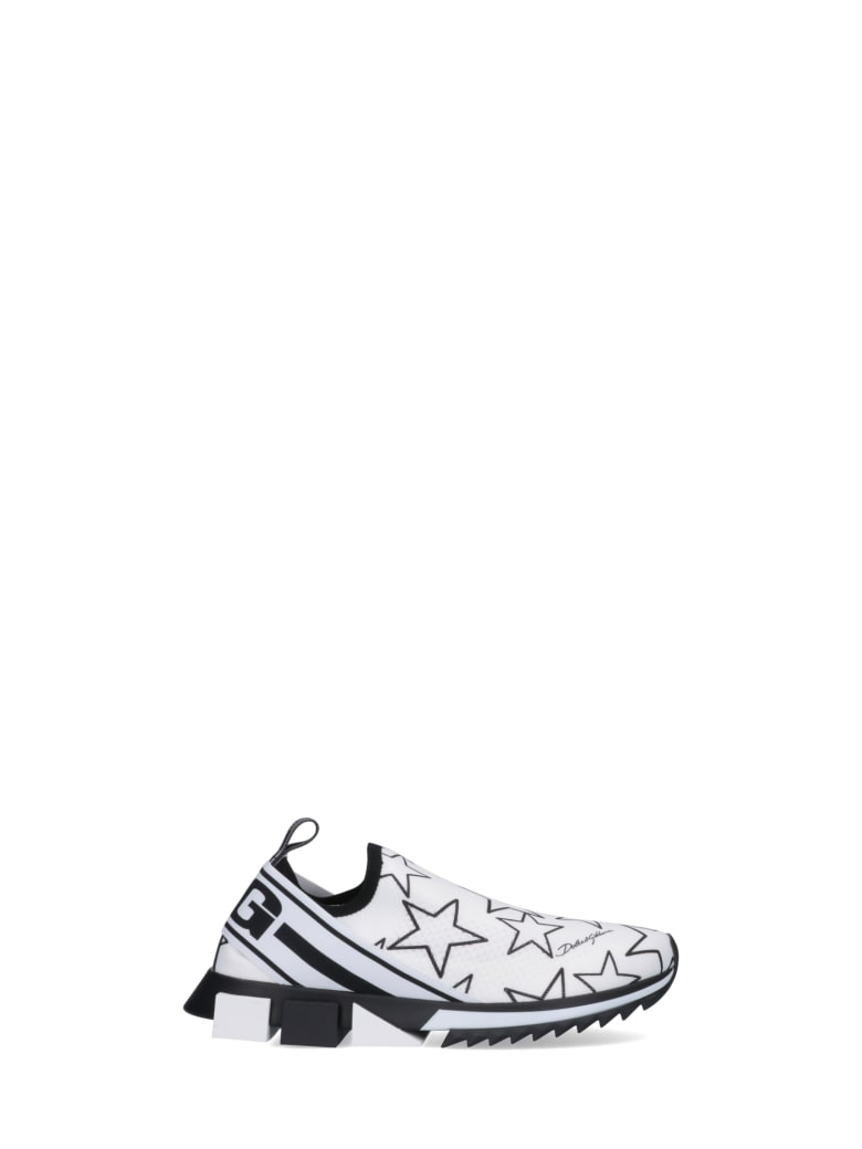 Dolce & Gabbana Sorrento Star Print Sneakers - Black