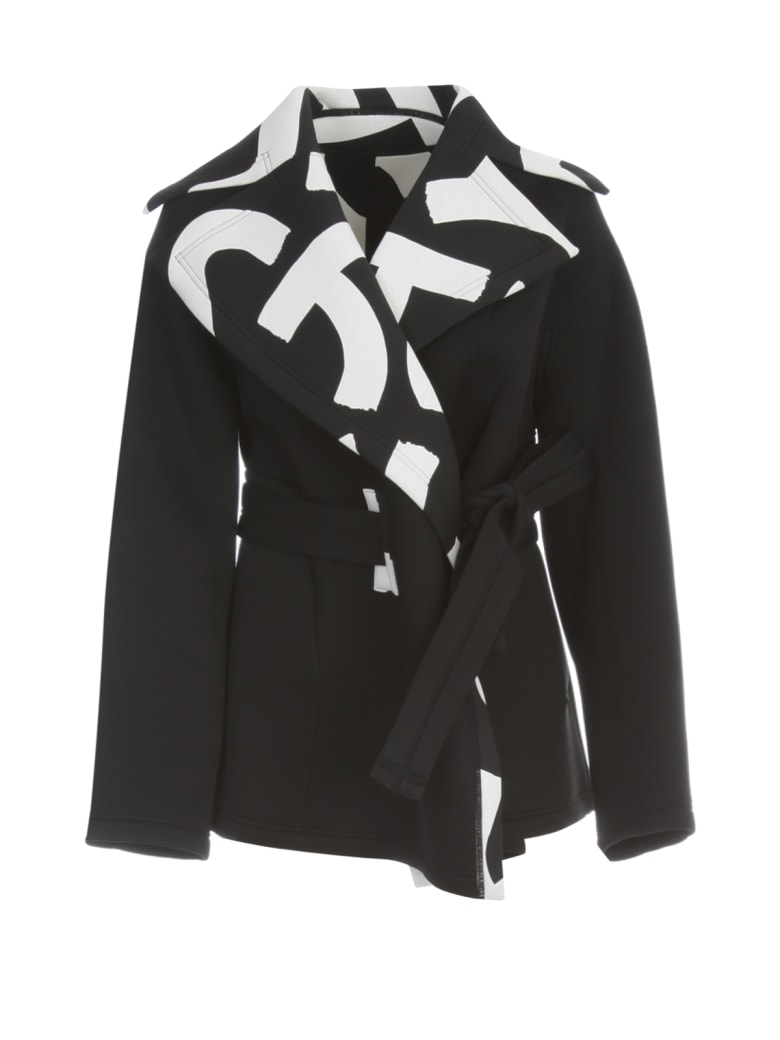 Issey Miyake Short Coat W/belt - Black Hued