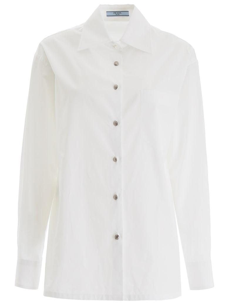 Prada Cotton Shirt - BIANCO (White)