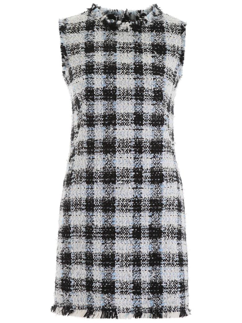 Alexander McQueen Check Tweed Mini Dress - PALE BLUE (Light blue)