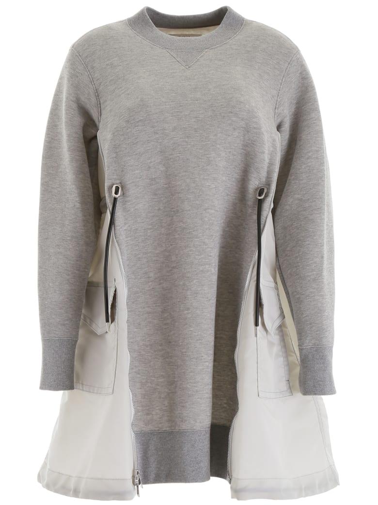 Sacai Cotton And Nylon Dress - LIGHT GREY (Grey)