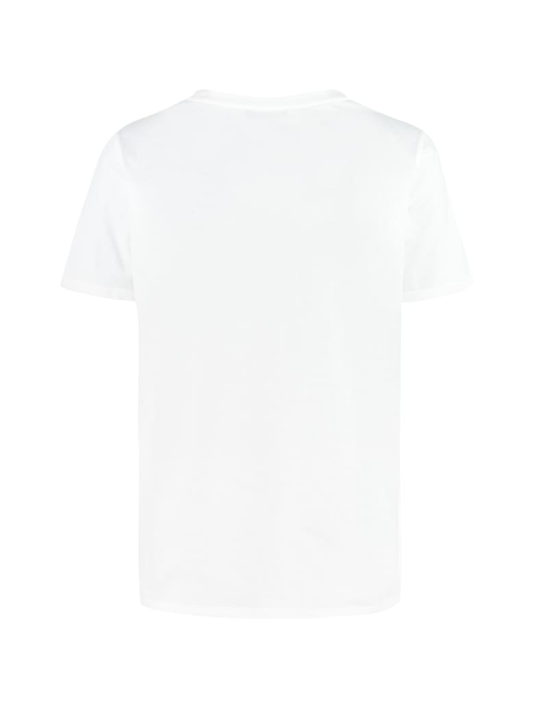 Balmain Cotton Crew-neck T-shirt - White