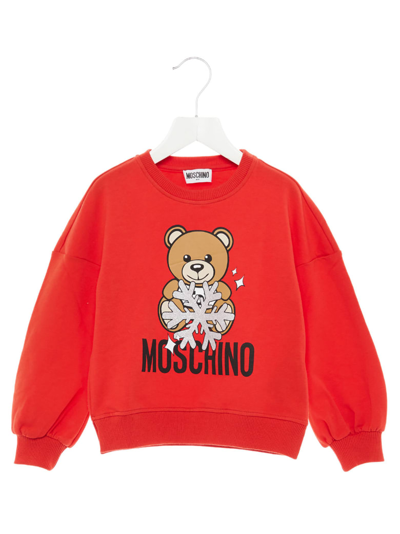 Moschino 'teddy Snow' Sweatshirt - Red
