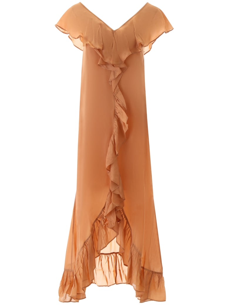 Mes Demoiselles Cumbre Ruffled Dress - NUDE (Beige)
