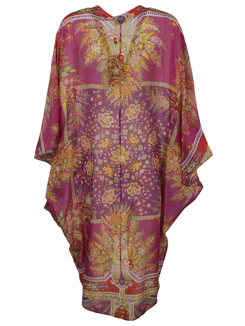 Etro Pattern Print Robe - Rosso