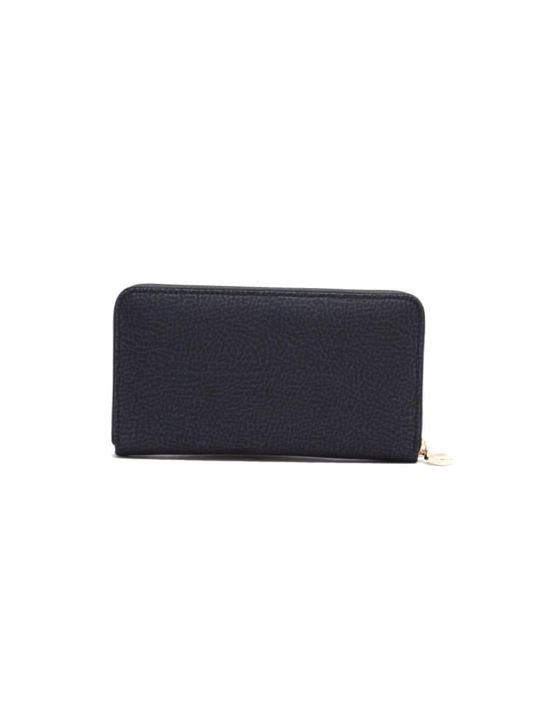 Borbonese Zip Around Wallet - Nero/nero