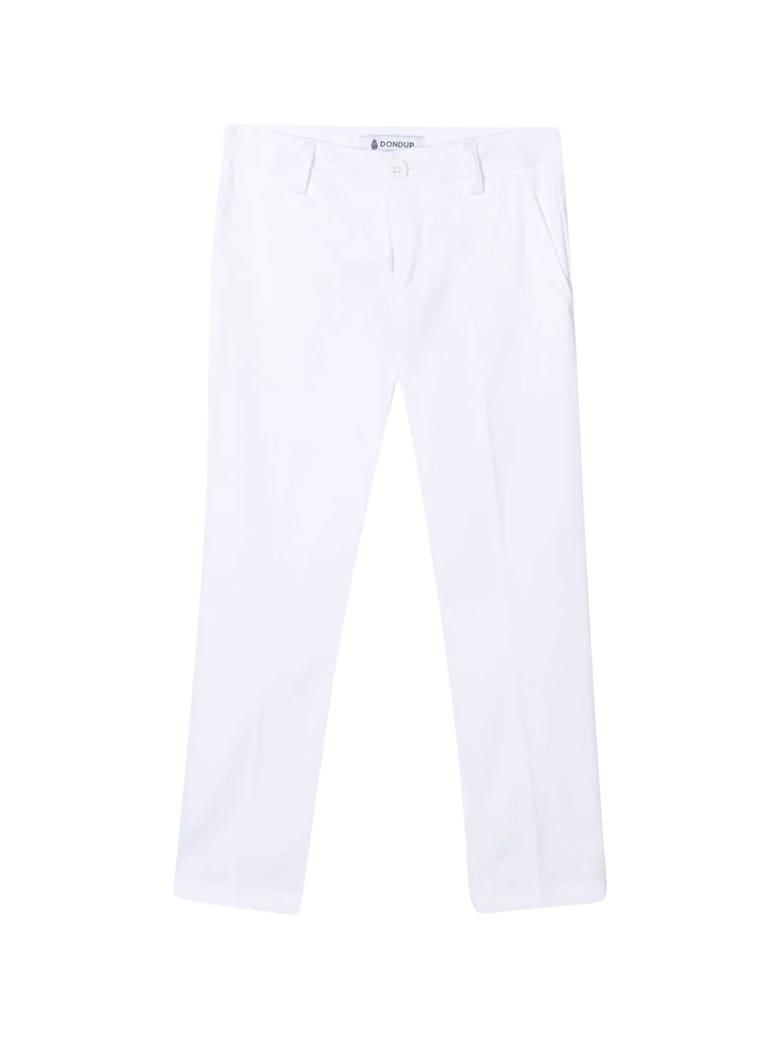 Dondup White Chino Trousers - Unica