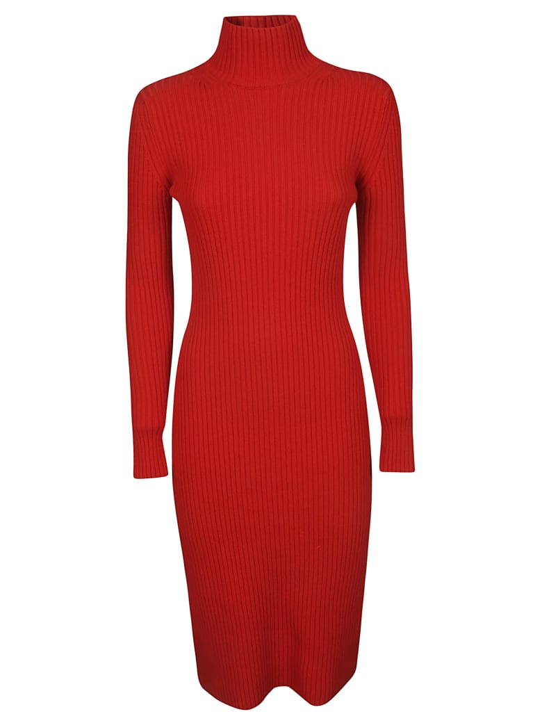 Balenciaga Fitted Dress - Red