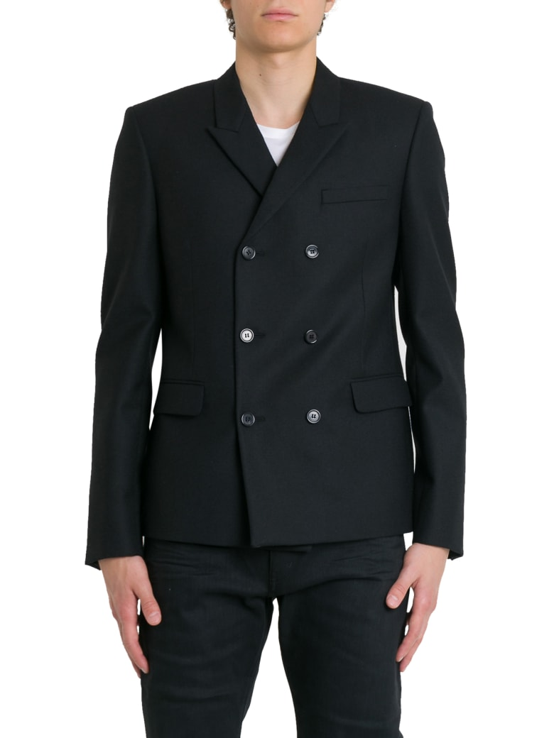 Saint Laurent Double-breasted Jacket - Nero