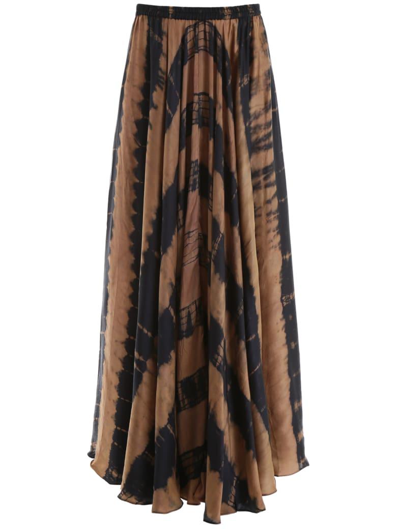 Mes Demoiselles Tie-dye Danish Skirt - BROWN (Brown)