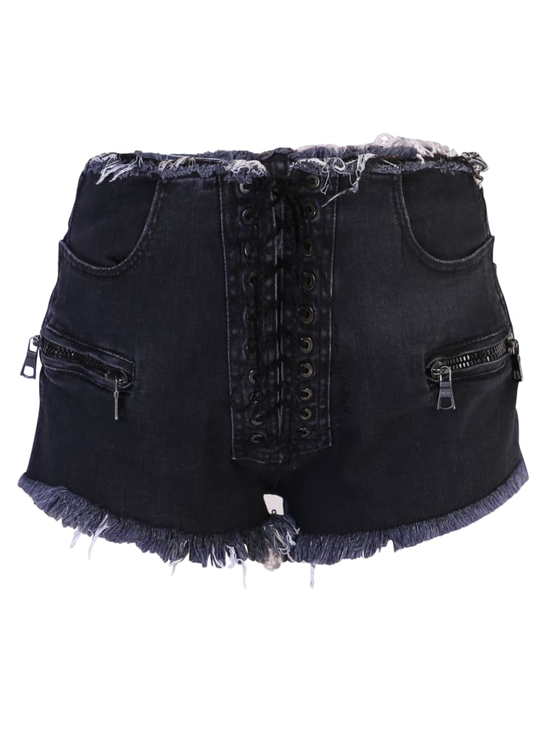 Ben Taverniti Unravel Project Denim Shorts - Black