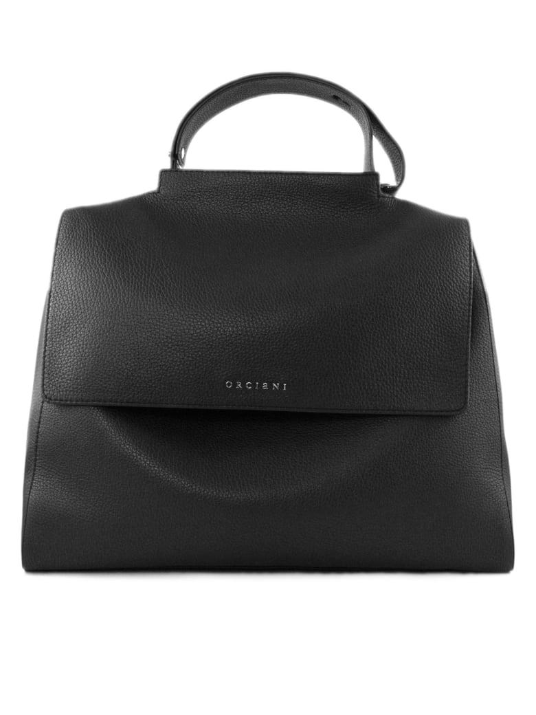 Orciani Black Leather Sveva Bag - Nero