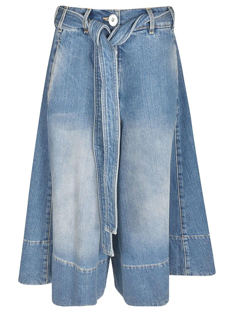 Lanvin Belted Flared Jeans - Blue