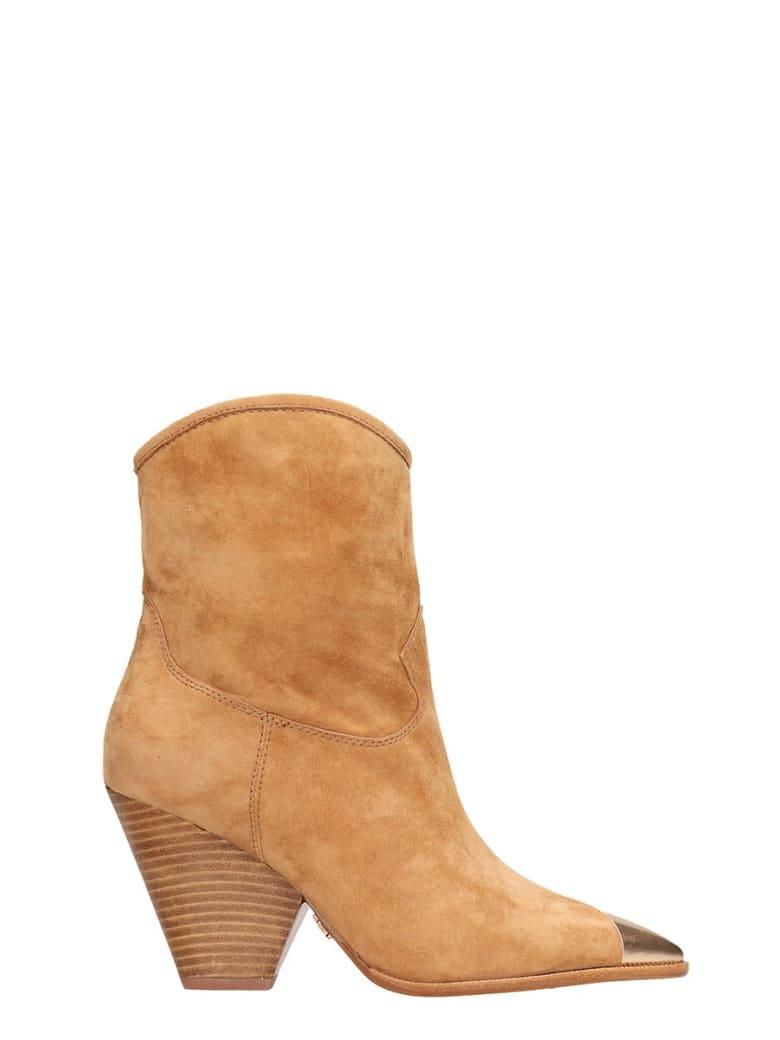 Lola Cruz Browne Suede Texan Boots - leather color