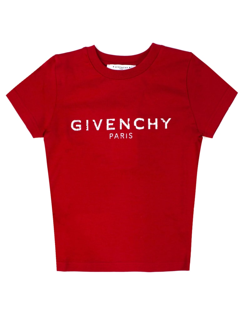 Givenchy Red Cotton T-shirt - Rosso