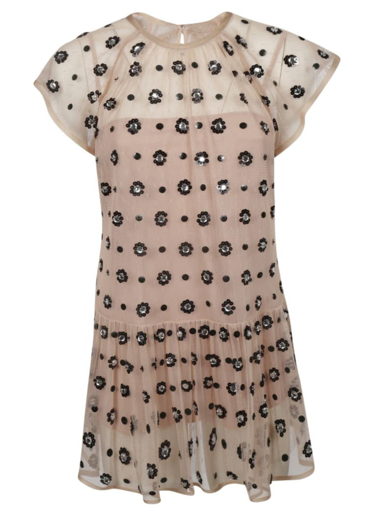 RED Valentino Flower Embroidered Blouse - Pink