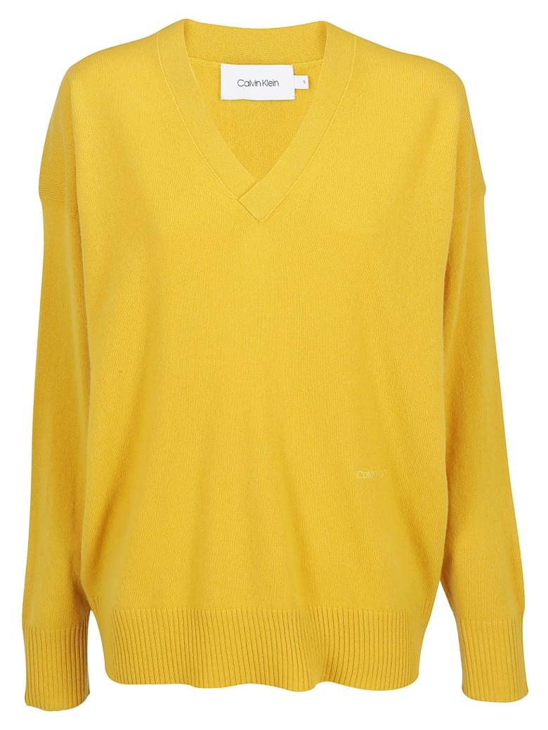 Calvin Klein V- Neck Knitwear - Ck mustard