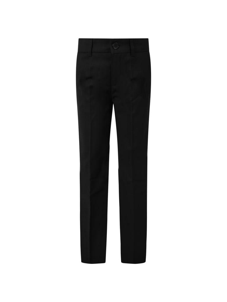 Paul Smith Junior Black Pants For Boy With Satin Details - Black
