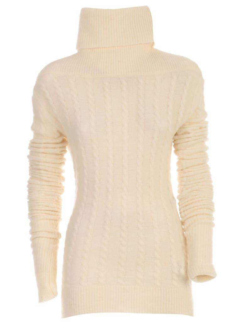 Jacquemus Le Maille Sofia Sweater W/braids High Neck - White