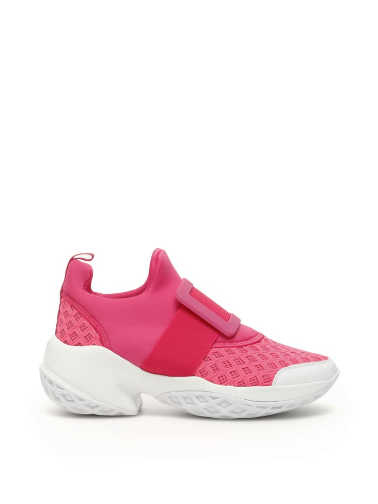 Roger Vivier Viv Run Sneakers - ROSA CAMELIA AZALEA BIANCO (Fuchsia)