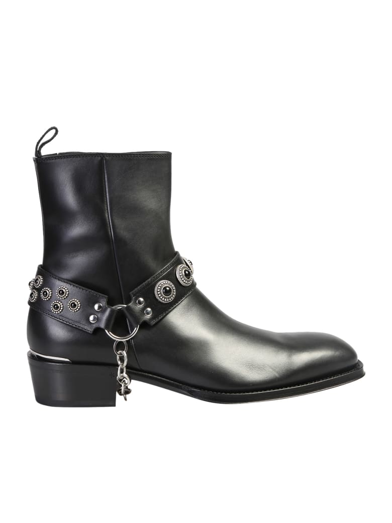 Alexander McQueen Studded Ankle Boots - Black