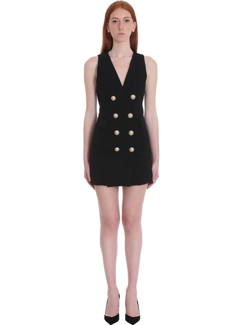 Balmain Dress In Black Cotton - black