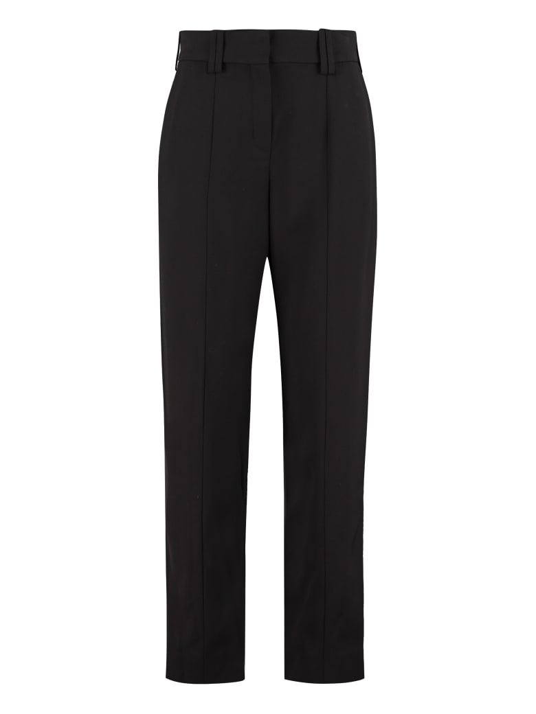 Balmain High-waist Tapered-fit Trousers - black