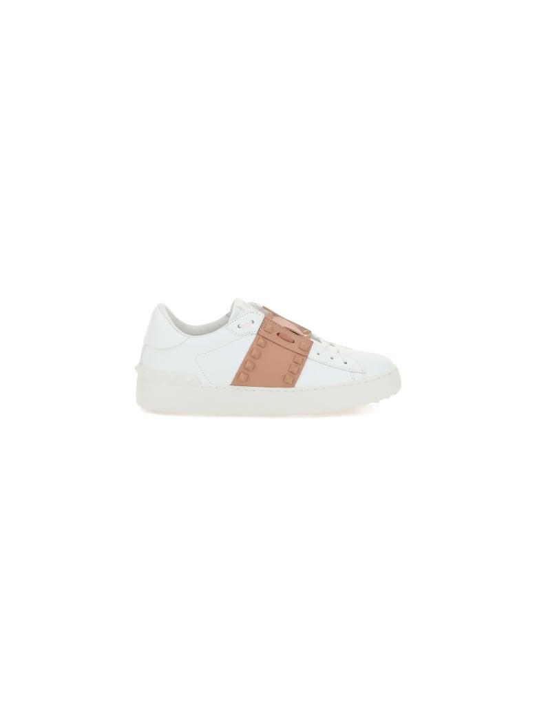 Valentino Garavani Rockstuds Sneakers - Bianco/rose cannelle